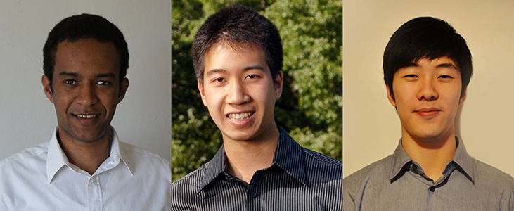 2013 Research Prize Winners, Wassie, Hwang, and Li